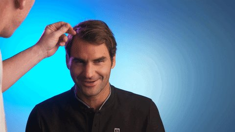 Not a hair out of... Oh!   #AusOpen @rogerfederer #Federer #peRFection...