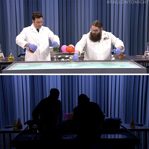 Jimmy & Kevin Delaney create a chemiluminescent painting 🎨 #Fallon...