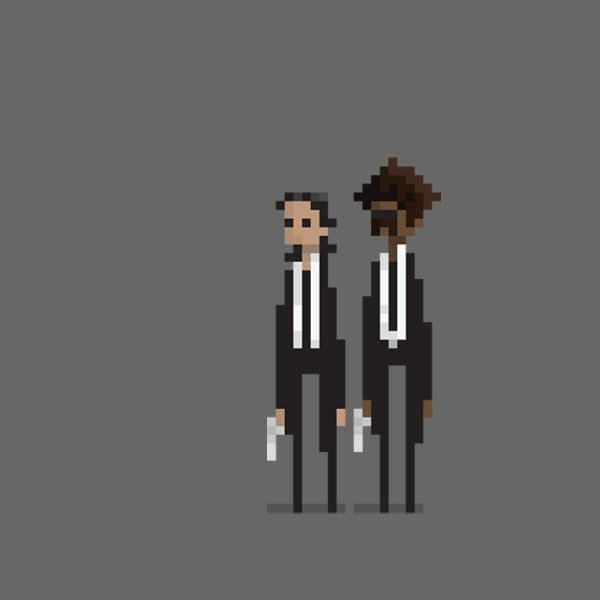 [GIF] Vincent and Jules created by Dušan Čežek #gifmagazine #funny #ドット絵 #Movie