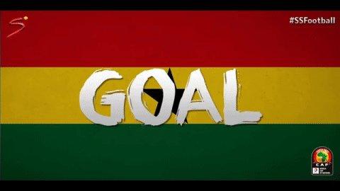 GOAL! Asamoah Gyan gives Ghana the lead! 1-0 after 25 mins.   Watch #C...
