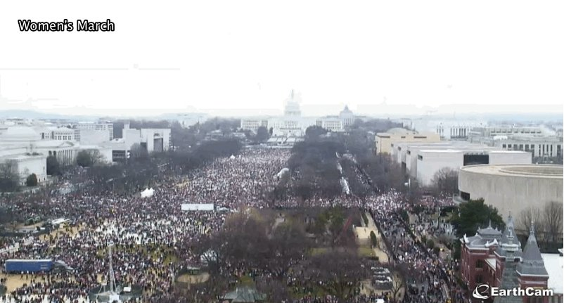 Comparing President Donald Trump's inauguration crowd to the #WomensMarch https://t.co/KUCxASjgSt