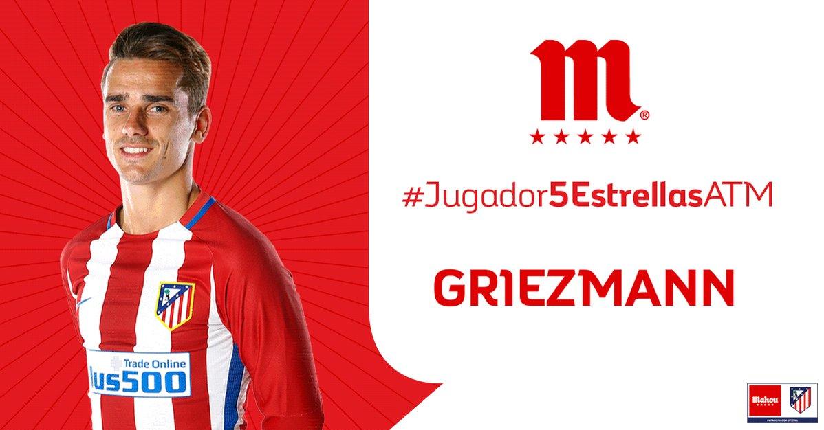 RT o Me Gusta si crees que Griezmann ha sido el #Jugador5EstrellasATM...