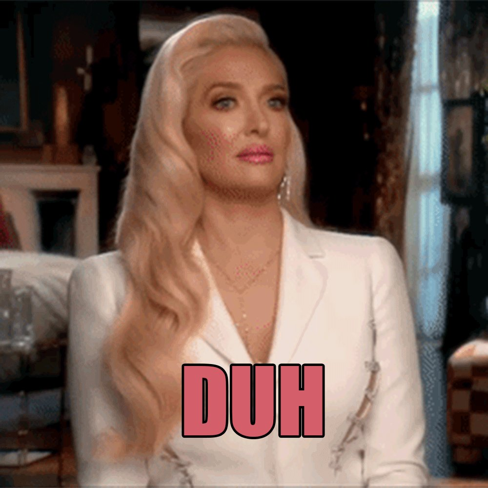 That look you give when someone asks if you're caught up on #RHOBH @erikajayne https://t.co/CRuSOD3bxM
