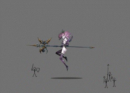 スカアハのシェード・スピンを2Dゲーム風アニメにしました。 #FF14 #FFXIV #Spine https://t.co/RN6q1hHymX
