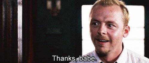 Happy 47th birthday Simon Pegg. You\ve got red on you.