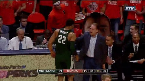 Interesting tactic from Bridges.  Izzo can't yell at you if you are hugging him. https://t.co/pcKpU5C80X