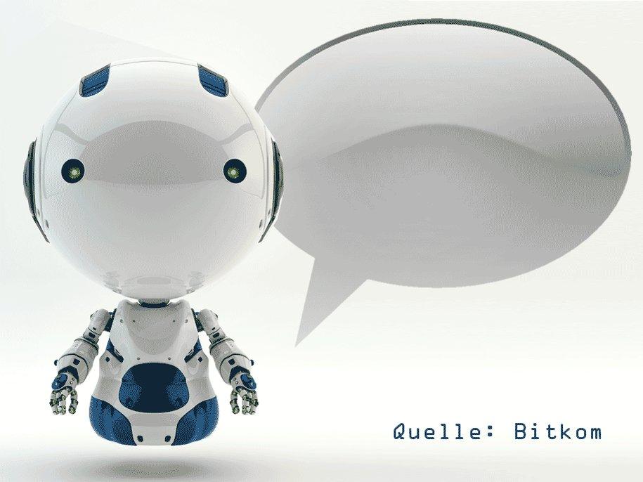 Social Media Post: Chatbots nutzen? Jeder Vierte kann sich das laut @bitkom...