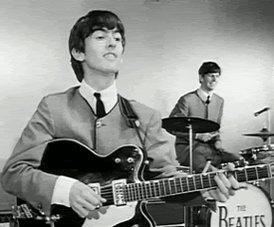 Happy birthday George Harrison       hello Ringo