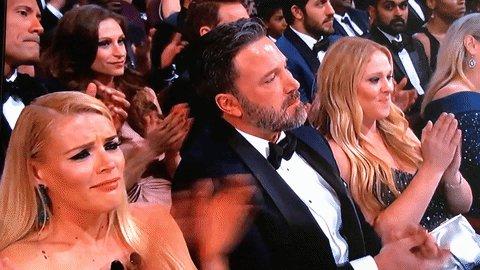 "Trying not to cry, because ""Batman."" @BenAffleck #CaseyAffleck #Oscars https://t.co/9vvpxARzUC"