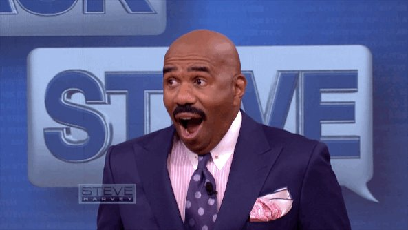 Steve Harvey right now...