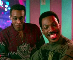 Happy birthday sorry all I have is this gif of you and Arsenio Hall