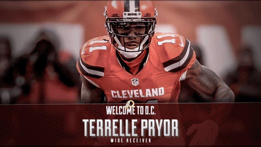 #Redskins sign wide receiver Terrelle Pryor.  Welcome to D.C., @TerrellePryor!  More info: https://t.co/VnznG4pSmJ
