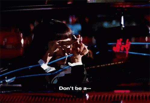 Pulp Fiction (1994) DP: Andrzej Sekula | Dir: Quentin Tarantino Happy Birthday!