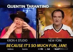 Happy Birthday to the one and only Quentin Tarantino. Do you think Jan will be sending him well wishes?