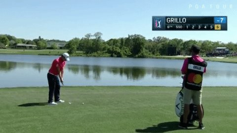 Emiliano Grillo misses birdie putt that would have got him to the weekend, reacts accordingly