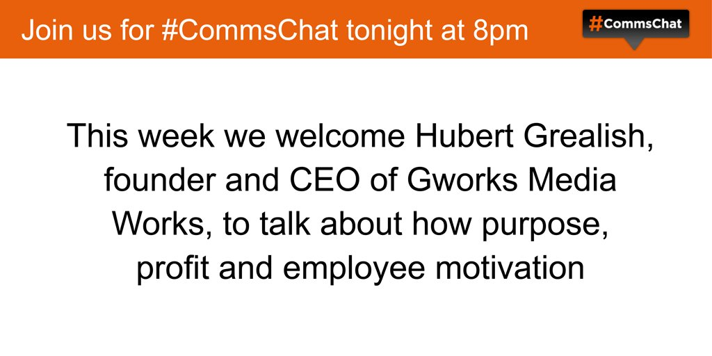 Thumbnail for Transcript of #CommsChat on purpose, profit and internal motivation