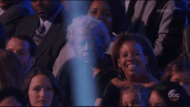.@NormaniKordei's grandmother in the audience is everything!! #DWTS #T...