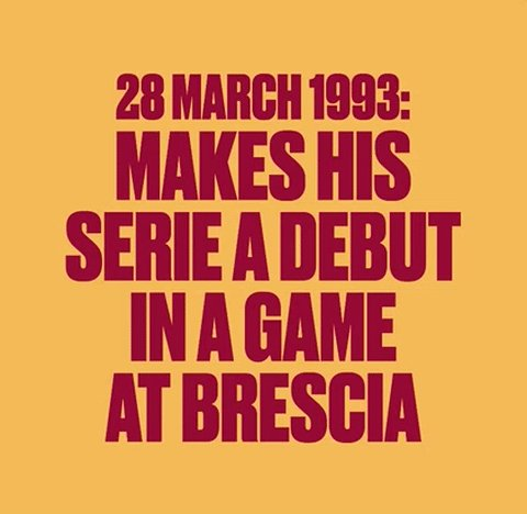 #OnThisDay in 1993, Francesco Totti made his debut for @ASRomaEN.  A l...