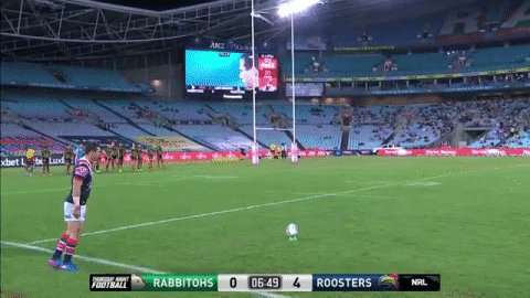 Gordon slots it perfectly!  #NRLSouthsRoosters 0-6 after 7 minutes.  #...