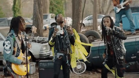 .@Migos are living the rock star lifestyle in their new music video fo...