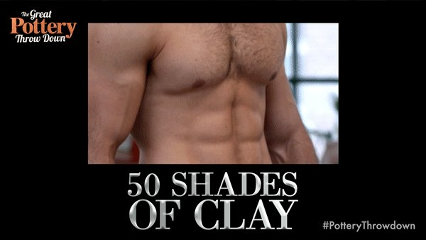 Christian Clay has entered the building. #50Shades #PotteryThrowdown h...