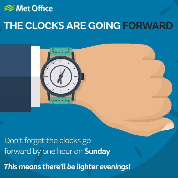 The clocks go forward tonight, marking the start of #BritishSummerTime...