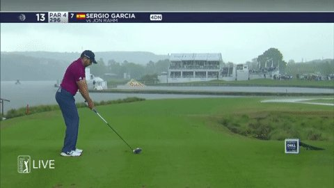 Sergio Garcia just hit one of the worst shots you'll ever see by a PGA Tour pro