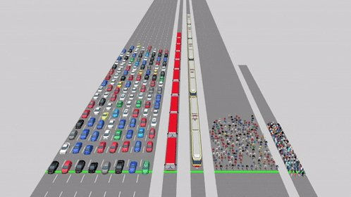 These animated videos show just how much space cars waste in our cities: https://t.co/UfchgKJ2g2