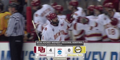 Wow... Quite a start for the top-seeded Pios!   Denver - 4 Michigan Te...