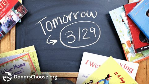 Tomorrow, your donations will be matched on EVERY project. #BestSchool...