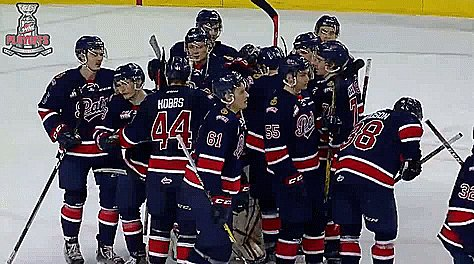 .@WHLPats celebrate another win & a 3-0 series lead. #REGvsCGY #WH...