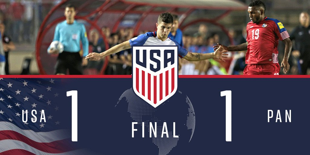 Not the result we wanted, but we'll certainly take it.  The #USMNT 🇺🇸...