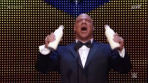 .@RealKurtAngle is now an OFFICIAL member of the #WWEHOF Class of 2017! It's true.... IT'S DAMN TRUE!!!!