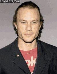 "Happy birthday Joker Heath Ledger (1979-2008) \""Let\s put a smile on that face.\"""