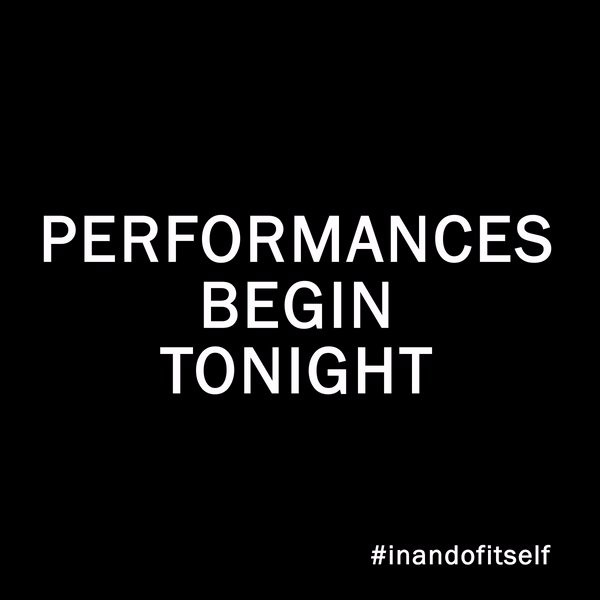 Performances to see @derek_del and the phenomenal @InandOfItself begin tonight. I'm telling you, get tickets quick, before they're gone.