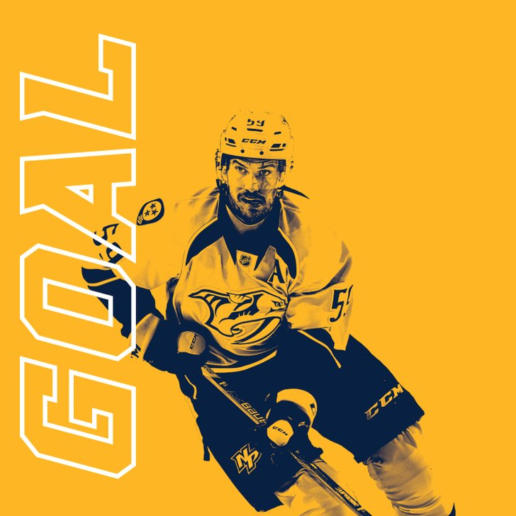Goal officially Josi (2nd of the night) from Sissons and Watson at 10:...