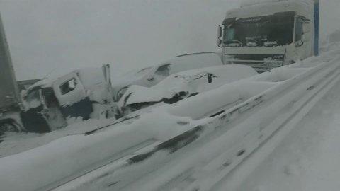 Heavy snow storm hit Slovakia