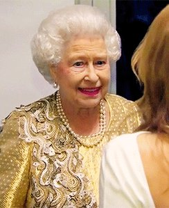 The party Queen giving us that #FridayFeeling #happybirthdayhermajesty