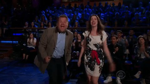 Anne Hathaway & @JKCorden perform the perfect soundtrack for your fav rom-com https://t.co/KH2evUZ4UZ
