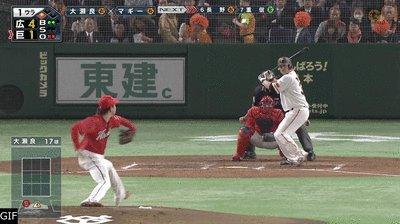 巨人マギー、日本球界復帰後初ホームラン!あっという間に1点差に