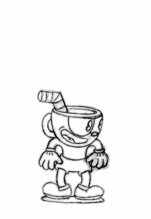 Cuphead & Mugman Intro Animation - Pencil Tests #screenshotsaturday