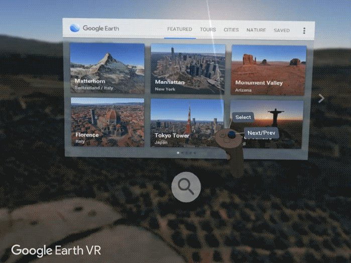 Happy Earth Day. We've updated Google Earth VR with support for the Rift and with... search!