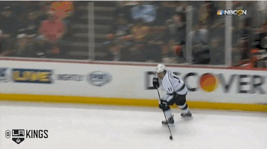 Dustin Brown lays out Corey Perry