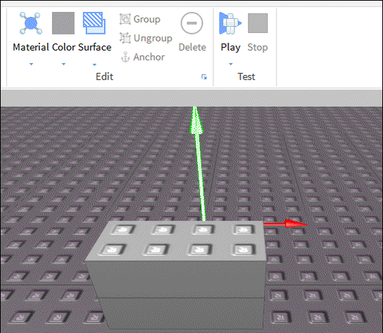 Roblox Dev Tips On Twitter Want To Paint With Studio Color Tool Click The Arrow On Bottom To Make It Function As A Tool Via Uristmcsparks Http T Co 4awdbks2ml