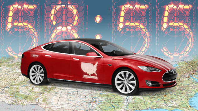 A new Model S coast-to-coast record of 58 hours, 55 min. Who's next? http://t.co/2PqFDVfpOd