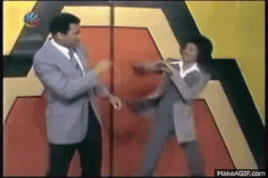 Muhammad Ali and Michael Jackson sparring.  Not sure who has the fancier footwork. http://t.co/ifAOsiTDbq http://t.co/H1fVjVE7Op