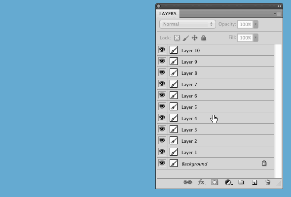 In case you didn't know: you can reverse order of the layers using Layer → Arrange → Reverse function in Photoshop http://t.co/mg99TID84C