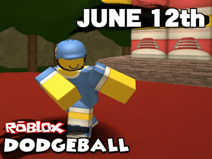 YAY! @ROBLOX DODGEBALL WILL BE RELEASED JUNE 12TH! WILL TWEET EXCITING GIVEAWAYS AND NEWS IN THE NEXT WEEK! RT! :D http://t.co/LFaaufk4dr