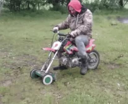 RT @mashable: The motorbike-lawnmower hybrid for badass gardeners. http://t.co/OWZ1ZqXwYF http://t.co/9CaerEm7jH