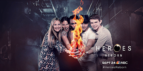 Check out my #HeroesReborn poster from #SDCC! Coming Thursday, Sept. 24 to NBC. http://t.co/xi5QWEYG7h